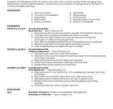 Resume Sample For Housekeeping by Mesmerizing Housekeeping Resume Sample 3 Unforgettable Aide