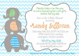 girls templates color blank elephant baby shower invitations baby