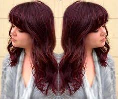 coke blowout hairstyle red hair color inspiration cherry coke hair hair coloring and red
