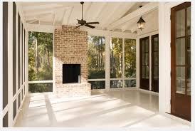 Screen Porch Fireplace by Perfect Porch Fireplace No Overkill Our Town Plans 55 Shenandoah