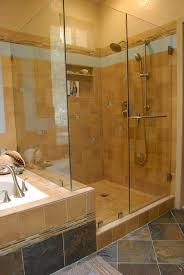 bathroom great doorless shower designs with house with design glass