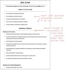 Hybrid Resume Example by Government Resume Formats