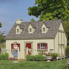 amish made 12x10 ft cape cod playhouse kit