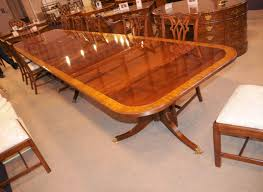 16 ft regency dining table triple pedestal mahogany diner ebay