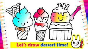 how to draw cute ice cream coloring pages coloring for kids