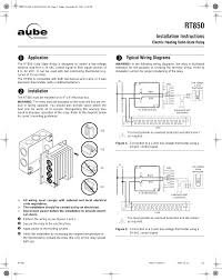 aube technologies electric heating solid state relay rt850 user