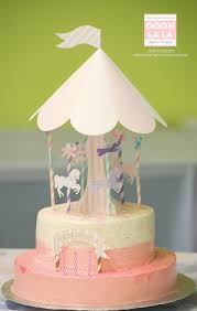 Cakes To Order Made To Order Oooh La La Deluxe Merry Go Round Cake Topper Set
