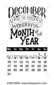 Calendario Diciembre 2018 Clipart Vector Calendario Para Diciembre 2018 Mano