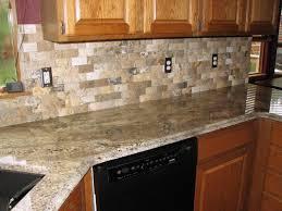 tiles backsplash travertine splashback brown slate tiles kitchen