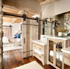 Barn Doors Lighting by Decorating With Barn Doors Bathroom Contemporary With Recessed