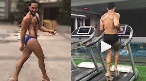 miss universe lewat pria ini luwes pamer treadmill pakai high heels