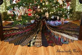 brown tree skirt christmas tree skirt made out of neckties this may be even cooler