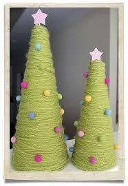 yarn trees made these today with tacks and