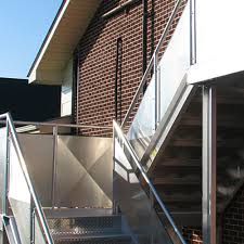 Industrial Stairs Design Fixed Aluminum Industrial Stairways Caddetails