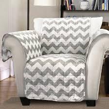 Armchair White Gray White Chevron Furniture Protector Gray White Armchair