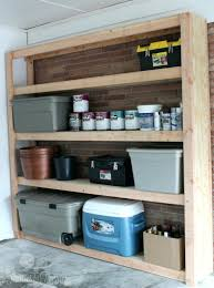 Large Storage Shelves by Cheap Garage Shelving Ideas And Planswood Storage Plans Diy
