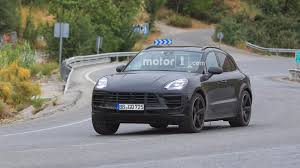 2018 porsche macan turbo 2018 porsche macan facelift photographed inside and out