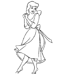 ordinary cinderella coloring pages kids cartoon coloring