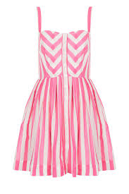 get the look minka kelly u0027s thakoon striped dress