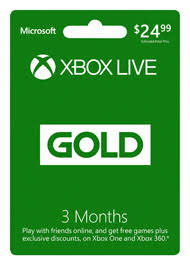 xbox live gift card 3 month xbox live gold membership digital for