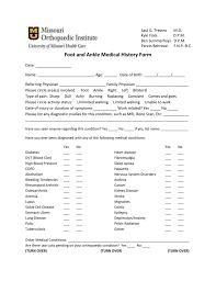 medical information form ms word