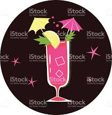 cocktail illustration retrostylized cocktail illustration bloody mary stock vector art