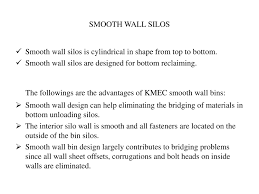 Smooth Wall Types Of Silos Powerpoint Slides