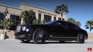 bentley mulsanne black 2016 bentley mulsanne on custom 24