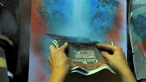 Poster Board For Spray Paint Art Painting Waterfalls With Spray Paint Art Spray Painting Tips And