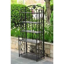 Wood Bakers Rack Plant Stand Astounding Outdoornt Racks Stands Picture