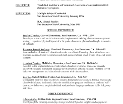 sle tutor resume template exle resume for teachersle elementary objectives teaching