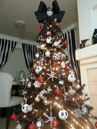 decorated halloween trees disney nightmare before christmas tree tnbc pinterest