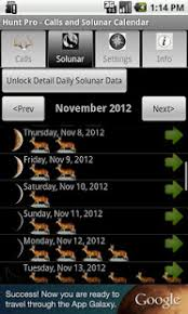 free solunar tables hunting hunt pro calls and solunar apps on google play