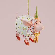 patience brewster u2013 mini nanette dressed up pig ornament wooden