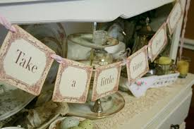 tea party bridal shower favors tea time banner garland tea party decoration photo prop bridal
