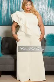 white plus size jumpsuit sale plus size sleeveless solid scuba jumpsuit with front