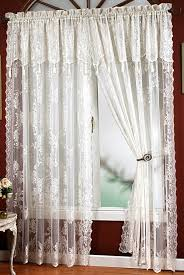 window curtains design lace panel curtains with attached valance