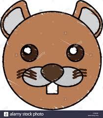 cute beaver animal wildlife stock vector art u0026 illustration