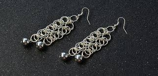 make dangle earrings how to make chain maille dangle earrings with jumprings and