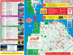 Washington Dc Attractions Map San Francisco Tourist Attractions Map