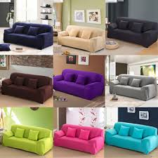 Qoo Multisize Universal Sofa Cover Plain Color Elastic Cloth - Sofa cover design
