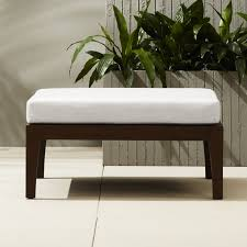 Using An Ottoman As A Coffee Table Modern Ottomans And Accent Stools Cb2