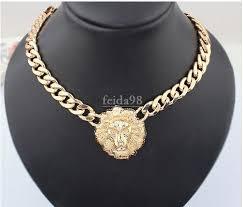 golden necklace women images Wholesale big gold necklace for women animal head necklaces jpg