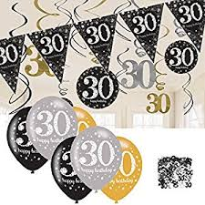30th birthday decorations 30th birthday decorations black and gold 30th birthday bunting