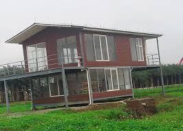 portable homes water proof light steel portable 2 bedroom modular homes prefab house