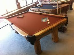 Dallas Cowboys Pool Table Felt by El Paso Hand Made Log Pool Pool Table