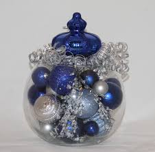 christmas centerpiece sapphire silver and light blue zoom