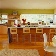 kitchen island with stove modern area rug chartreuse wall tikspor