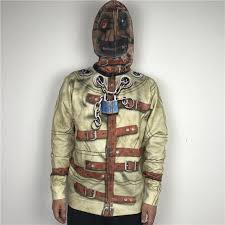 halloween party straitjacket prisoner cosplay costumes for adults