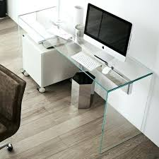 Home Office Glass Desks Minimalist Office Desk Mirror Storage Drawer Minimalist